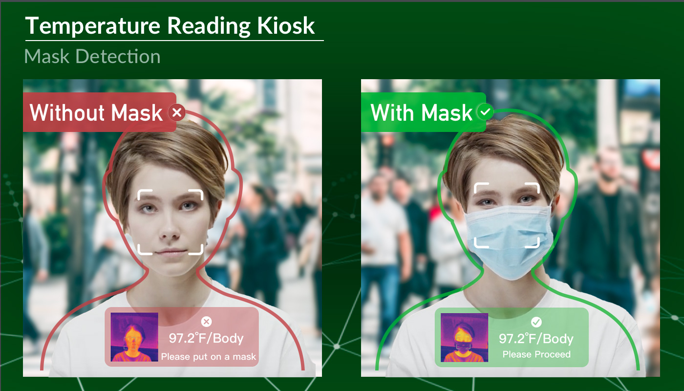 face mask detection temperature kiosk