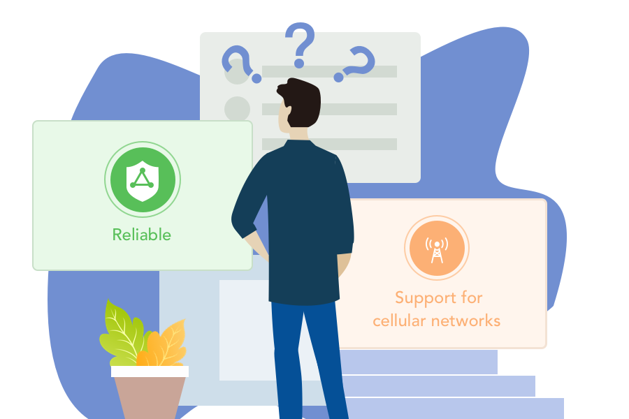 An ideal device should both be reliable and support cellular networks.